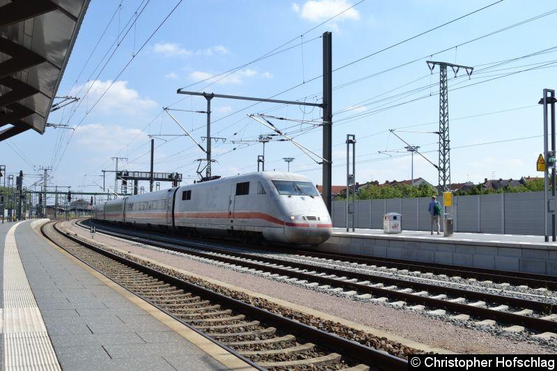 Bild: Bei der Durchfahrt in Erfurt Hauptbahnhof.