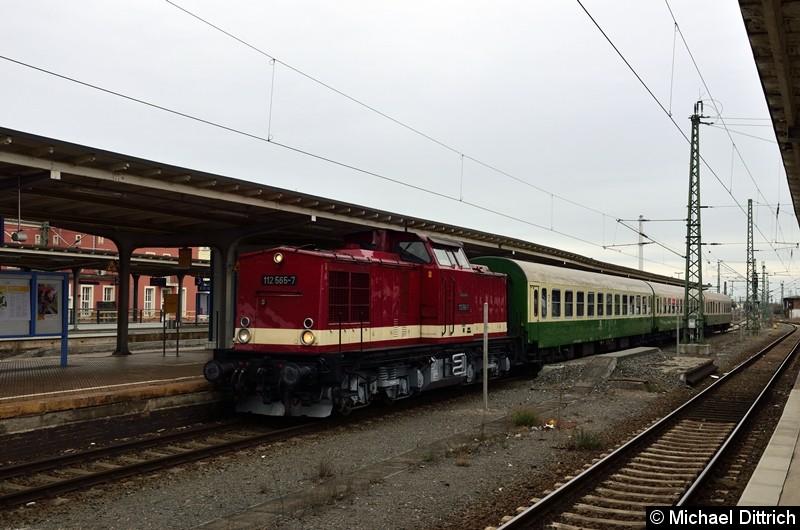 Ankunft des Sonderzuges aus Bernburg in Dessau Hbf.
