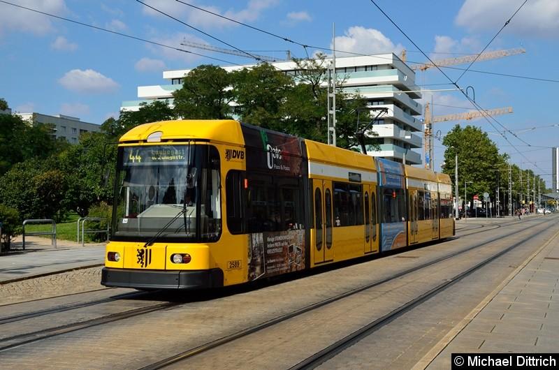 2589 als Linie 12 in Höhe der Haltestelle Webergasse.