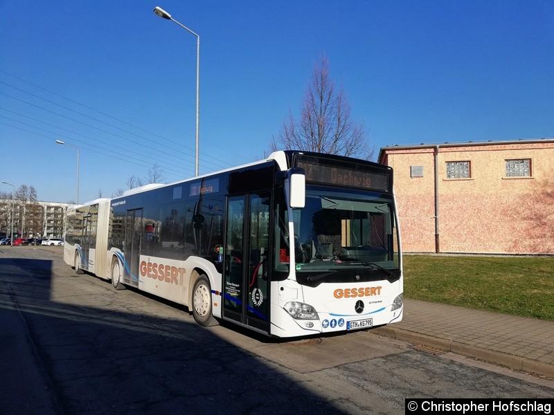 Wagen 795 als Linie 812 am Europaplatz,Erfurt.
