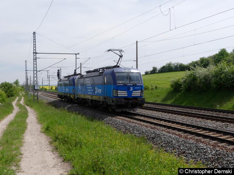 383 001-5+383 003-1 bei Seebergen in Richtung Gotha.