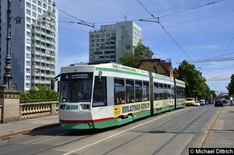 1337 als Linie 4 auf der Zollbrücke.