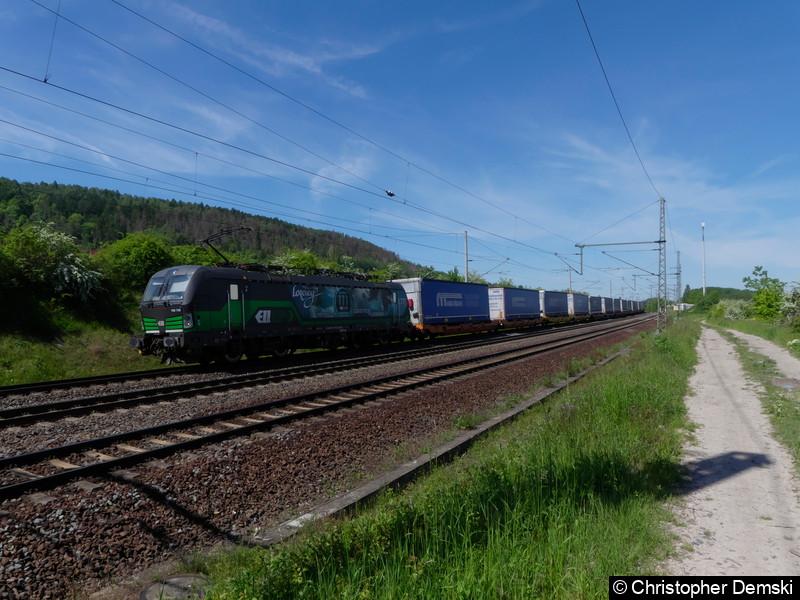 193 738 mit ein Güterzug bei Seebergen.