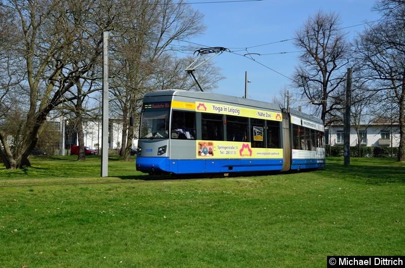 1309 als Linie 2 in der Wendeschleife Naunhofer Str.