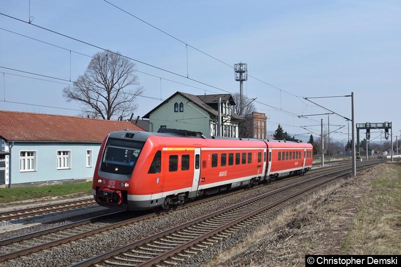612 513 bei der Durchfahrt bei Erfurt Vieselbach