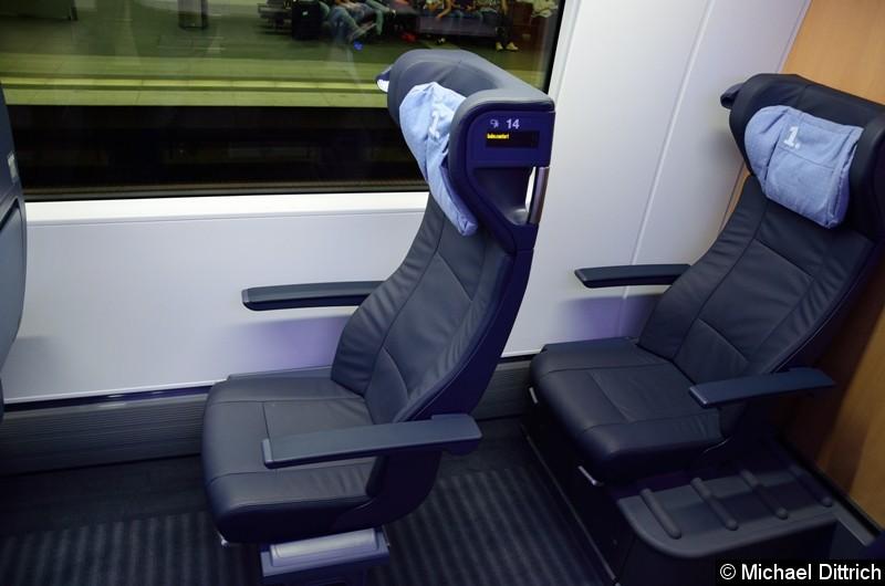 Auch in der ersten Klasse ist der Fahrgast von schlechten Sitzen nicht verschont.