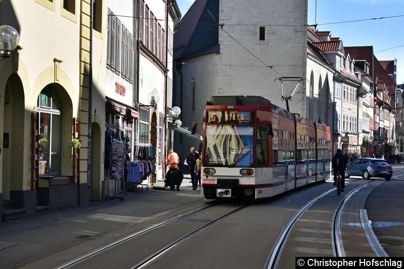 TW 604 als Linie 6 in Richtung Rieth in der Marktstraße