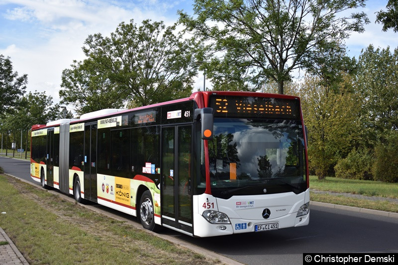 Wagen 451 als Linie 52 in GVZ